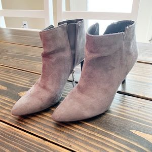 Gray booties. Great used condition